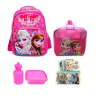 "16"" Frozen Backpack Girls Elsa Anna Back to School Lunch Bag Satchel Pencil Case"