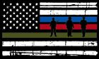 Thin Tattered Horizontal Flag Firefighter Police Military Decal Various Sizes