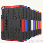 "2017 New iPad 9.7"" Model A1822 / A1823 Hybrid Rubber Hard Kickstand Case Cover"