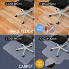 Office Chair Mat Home Floor Carpet Protector Rectangle 1.8MM/5MM With Grips