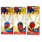 Dog Tag Charm + Adjustable Necklace Marvel Heroes Spider Man Party Favor NEW