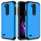 For LG Fiesta LTE/X Charge Case Shockproof Armor Hybrid PC Silicone Phone Cover