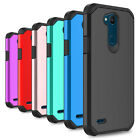 For LG Fiesta LTE X Power 2 Case Shockproof Armor Hybrid PC Silicone Phone Cover