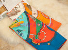 SPRING CARRIAGE SILK SCARF90X90 SHAWL SQUARE 4 COLORS 100% SILK TWILL 16MOMI