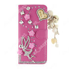 US Flip Bling Wallet Stand Case Crystal Luxury Leather Cover For Samsung Galaxy
