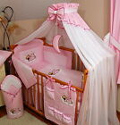 LUXURY 14pcs NURSERY BABY BEDDING SET TO FIT BABY COT or COTBED/ COT BED /HUGE