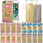 """Quotes Gold Glitter TPU Case Cover For Apple iPhone 8 Plus / iPhone 7 Plus 5.5"""""""