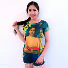 ATMZ Gauguin Two Tahitian Tahiti Women Top Tee T-Shirt Fine Art All Over Print