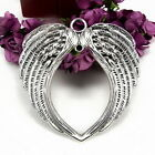 Wholesell 63x63mm Antique Silver/Bronze (Angel Wings) Charms Pendant Jewelry