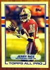 1989 Topps Jerry Rice San Francisco 49ers #7 Football Card