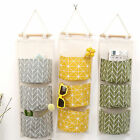 3 Pockets Wall Door Hanging Storage Bags Organizer Pouch Wardrobe Home Holder
