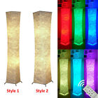 "52"" RGB Colour Changing Floor Lamp Lanterns with Fabric Lampshade & 2 LED Bulbs"
