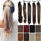 Long NEW Wrap Around Pony tail Ponytail Hair Extensions Real Thick as Human Nt1
