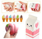 Cute Jumbo Squishy Milk/Peach/Ice Cream Slow Rising Scented Reliever Stress Toys