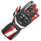 RST Delta II CE 2541 Red Black White CE Certified Analine Leather Sports Gloves