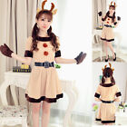 Sexy Ladies Womens Christmas Reindeer Animal Cosplay Fancy Dress Outfit Costume