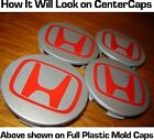 HONDA CENTER CAP RED DECALS oem Type-R jdm EP3 fd2 DC5 civic rsx tl tsx Type-S