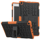 """For Amazon Kindle Fire HD 8"""" 2017 Shockproof Hard Hybrid Rubber Stand Case Cover"""