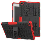 "For Amazon Kindle Fire HD 8"" 2017/2018 Shockproof Hybrid Rubber Stand Case Cover"