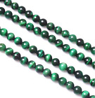 "Natural AA Green Tiger's Eye Round Gemstone Loose Beads 15.5"" 4 6 8 10 12mm pick"