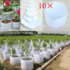 10pcs Round Fabric Pots Plant Pouch Aeration Container Vegetable Grow Bags