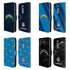 NFL 2017/18 LOS ANGELES CHARGERS LEATHER BOOK CASE FOR ASUS ZENFONE PHONES