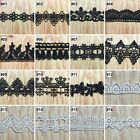Black White Water Soluble Vintage Crochet Polyester  Lace Trim Ribbon Sewing