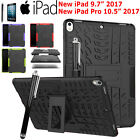 "Shockproof Heavy Duty Kickstand Case Rubber Cover F New iPad 9.7"" Pro 10.5"" 2017"