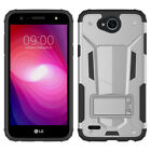 For LG X Charge HYBRID KICK STAND Rubber Case Phone Cover Accessory