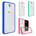 For LG Harmony TPU Gel GUMMY Protector Hard Skin Case Phone Cover +Screen Guard
