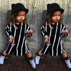 USA Infant Baby Girl Striped T-shirt Tops Shirt Dresses Casual Clothes One Piece