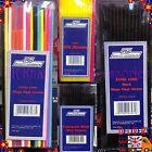 Black Mini Colour Long Glo Flexible Cocktails Smoothie Drinking Straws Assorted