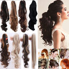 100% NEW Clip In Ponytail Pony Tail Hair Extensions Claw On Hair Piece Women fo