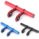 Bike Double Handlebar Extension Mount For Road Light Extended Flashlight Holder