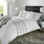 Duvet Quilt Cover Diamante Crystal White Bedding Set Double,King With Pillowcase