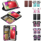 For Moto E4 PU Leather Wallet Case Phone Protector Cover Pouch Credit Card Stand
