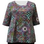 A Personal Touch Women's Plus Size Jade Paisley Garden Top