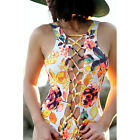 2017 Women Sexy Strappy Swimsuit Swimwear Bathing Monokini Push Up Padded Bikini