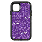 OtterBox Defender for iPhone 7 8 PLUS X XS Max XR Purple White Floral
