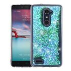 For ZTE ZMAX PRO Liquid Glitter Quicksand Hard Case Phone Cover Accessory