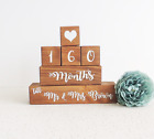 personalised wedding countdown, wooden countdown, engagement gift, bride to be,