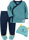 Carters Baby Boys 3-pc. Little Monster Layette Set