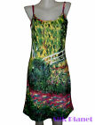 CLAUDE MONET Japanese Bridge Water Lily PAINTING FINE ART PRINT TANK DRESS NEW