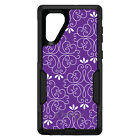 OtterBox Commuter for Galaxy Note 4 5 8 9 Purple White Floral
