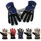 1pair Men Winter Warm Fleece Thermal Motorcycle Riding Ski Snow Snowboard Gloves