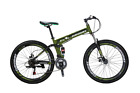 "Eurobike 26"" Folding Mountain Bike 21 speed Full suspension Bicycle MTB Present"