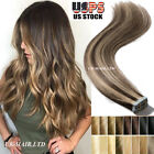 skin weft hair extensions - Tape IN Seamless Skin Weft Real Remy Human Hair Extensions Blonde Black US I507