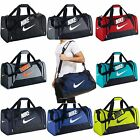 Внешний вид - Nike Brasilia 6 XS Small Medium Large Duffel Gym Bag Navy Black Grey Gray Duffle