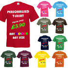 Custom Printed Personalised T Shirts Front and Back for Workwear, Clubs, Stag