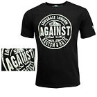 Lonsdale Black T-Shirt AGAINST RACISM & HATE Regular Fit Logo on Sleeve Hemd